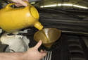 Fill the engine with new BMW specified engine oil.