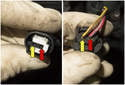 The heater control valve controls the flow of hot coolant to the heater core in the IHKA housing under the dashboard.