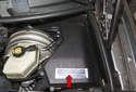 The DME is located on the left side of the engine compartment mounted in the e-box.