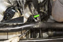 Next remove the crankshaft sensor 5mm Allen mounting fastener (green arrow).
