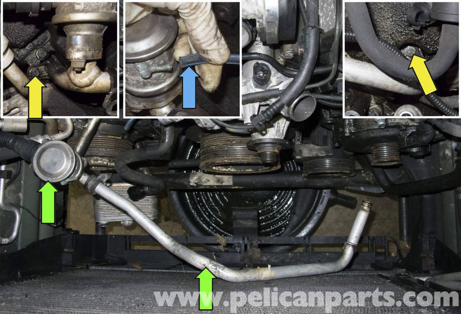 bmw   engine upper timing cover gasket vanos solenoid replacement