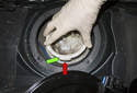 When installing, replace the fuel pump assembly sealing O-ring.