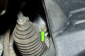 Draining cooling system: Most engines will have a 13mm drain plug (green arrow) on the side of the block.