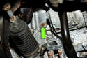 Draining cooling system: Most engines will have a 6mm Allen drain plug (green arrow) on the side of the block.