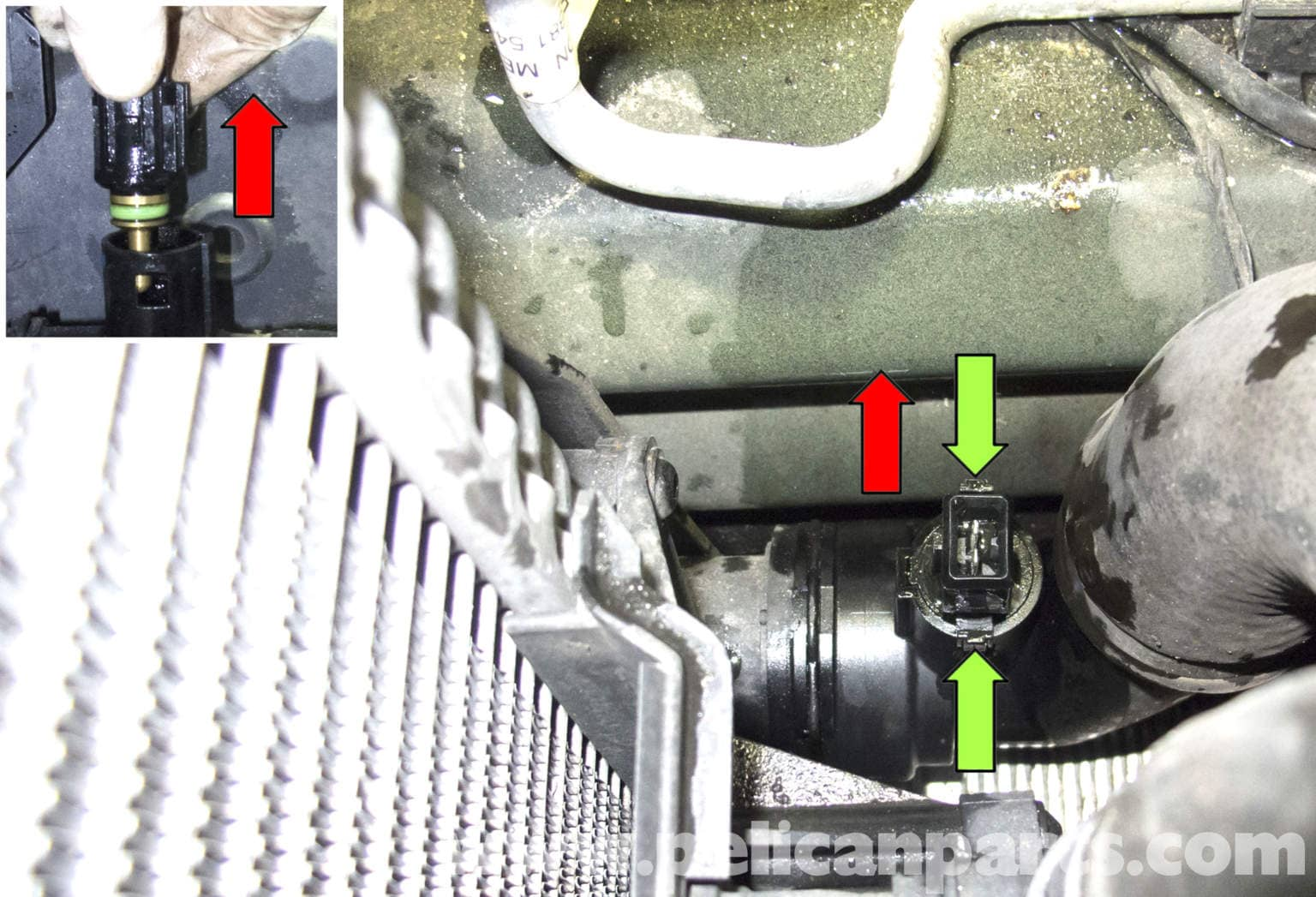 Bmw X5 Radiator Outlet Temperature Sensor Replacement  E53