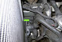 This photo shows the sensor on an 8-cylinder E53 X5 model with an automatic transmission.