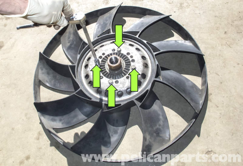 Fan Blades For Small Motors : Bmw engine cooling fan replacement e