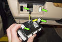 Headlight Switch: Pull the switch down from the vent and away from the dashboard.