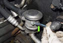 Secondary air pump check valve: The secondary air pump check valve is located at the right front of the cylinder head.