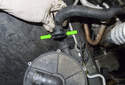 Secondary air pump: Next you have to disconnect the secondary air pipe from the pump.