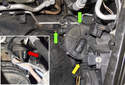 Secondary air pump: Now it is time to unbolt the secondary air pump.