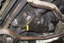 Rear Differential: This photo shows a leaking rear differential.