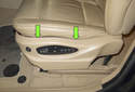 Pull the seat switch trim panel away from the front of the seat.