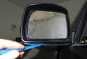 Mirror trim cover and trim replacing: When replacing the cover, you will want to have it painted before installing it.
