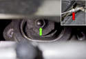 Use a magnetic pick-up tool to retrieve each fastener as you loosen them (red arrow).