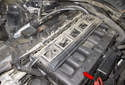Intake system: 6-cylinder: The M54 resonance / turbulence intake system (red arrow) in 6-cylinder models consists of two sets of three intake runners.