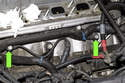 However, to prevent engine damage in case of adverse conditions or poor fuel quality, knock (detonation) sensors (green arrows) are mounted on the engine crankcase.
