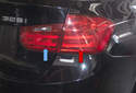 The taillight on F30 models houses all of the rear lights.