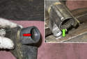 Accessory belt tensioner: With the strut removed, you can now replace the needle bearings inside the tensioner.