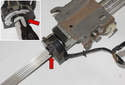 With the column removed, you can replace the steering angle sensor.