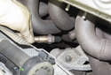 Remove the oxygen sensor from the exhaust manifold.