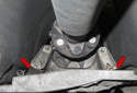 The BMW Z4 drive drain (engine and transmission) is supported by a system of mounts.