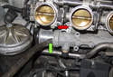 Next, remove the upper coolant pipe as you did the small pipe.