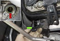 Exhaust camshaft sensor: Pull the camshaft sensor (green arrow) out of the cylinder head.
