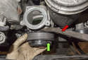 Next, remove the water pump pulley from the water pump.