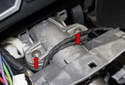 Remove the steering wheel and steering column switches.