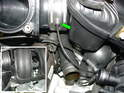 When you reinstall the manifold back onto the engine, you should point the throttle body towards the flywheel end.