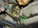 Shown here are the fuel line connections.