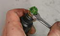 To remove the nozzle o-ring, first cut if off carefully with a razorblade.