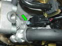 Shown here is the camshaft position sensor.