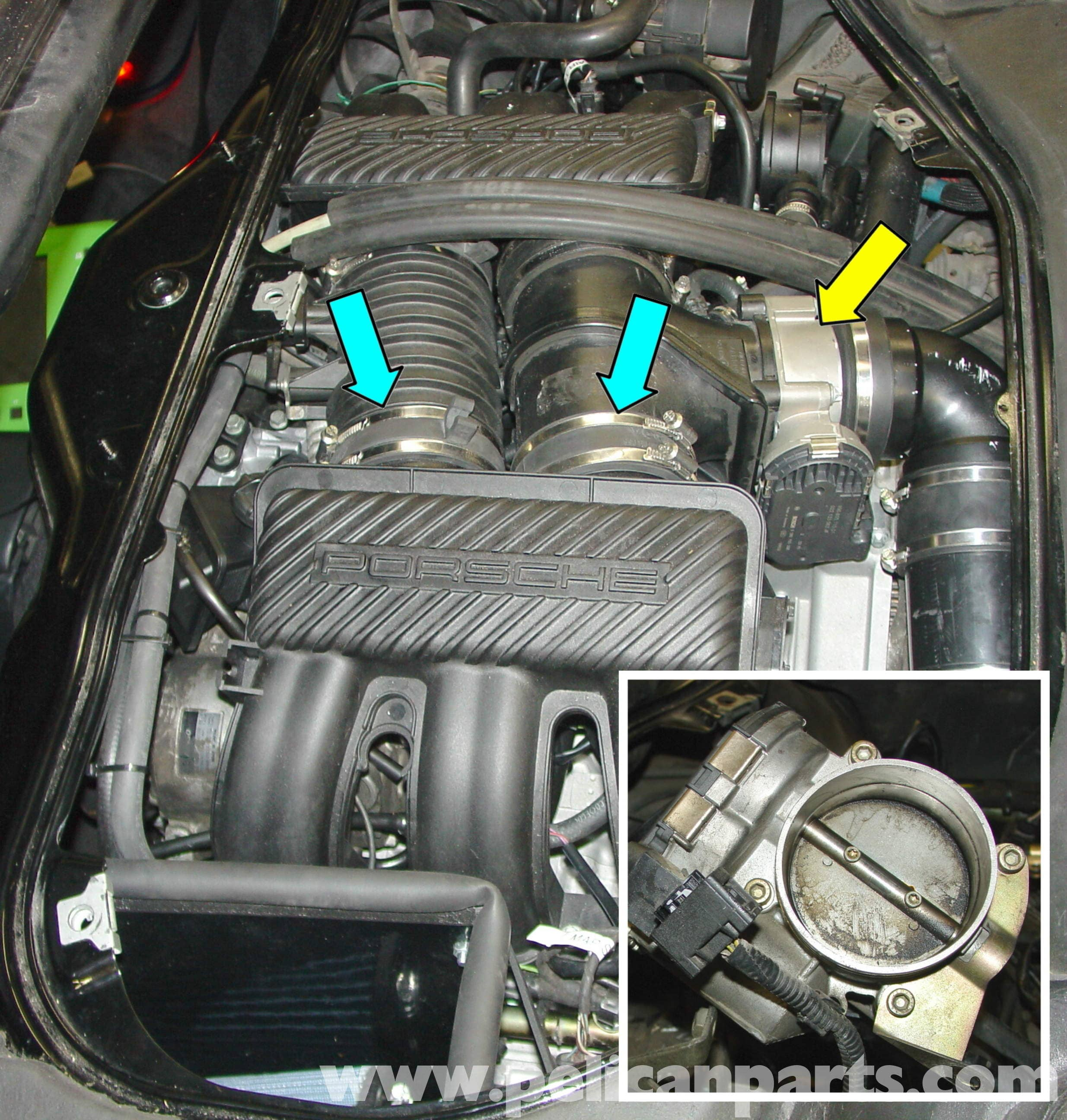 porsche boxster throttle body replacement cleaning intake large image extra large image