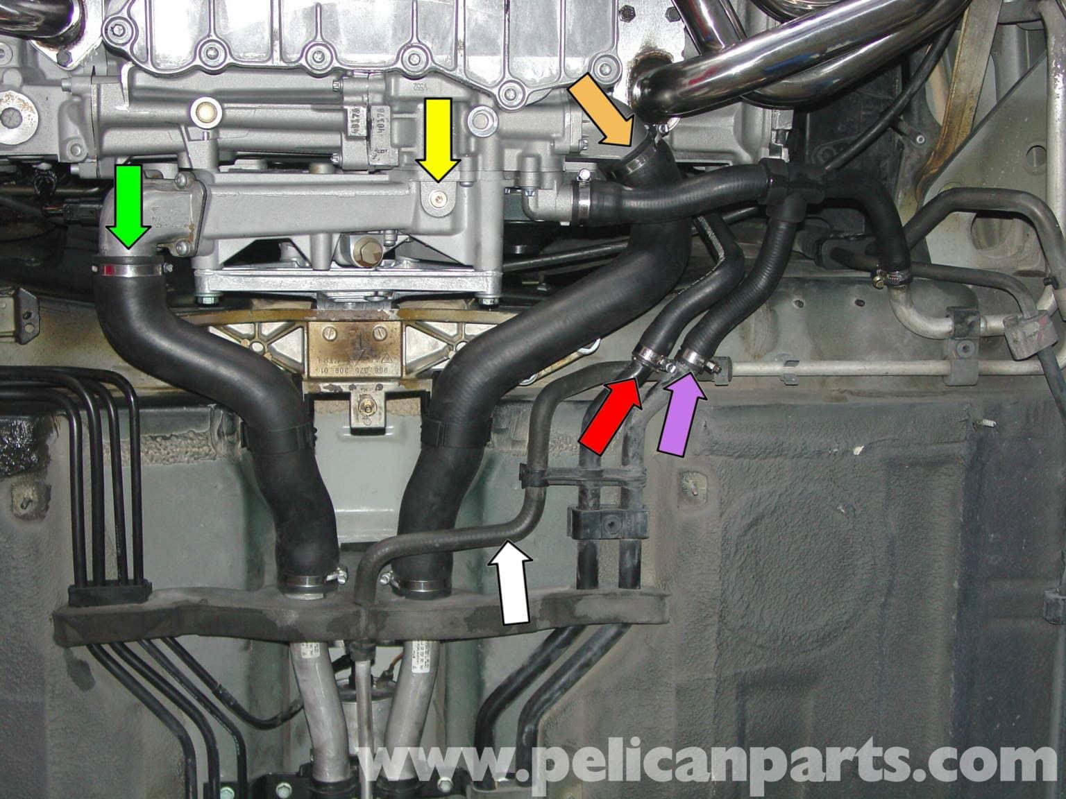 Porsche Boxster Coolant Replacement Coolant Flush 986