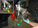 Use a high quality ball joint removal tool (yellow arrow) to separate the ball joint from the wheel bearing carrier.