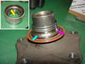 Here's a neat photo showing the physical damage on the worn out wheel bearing.