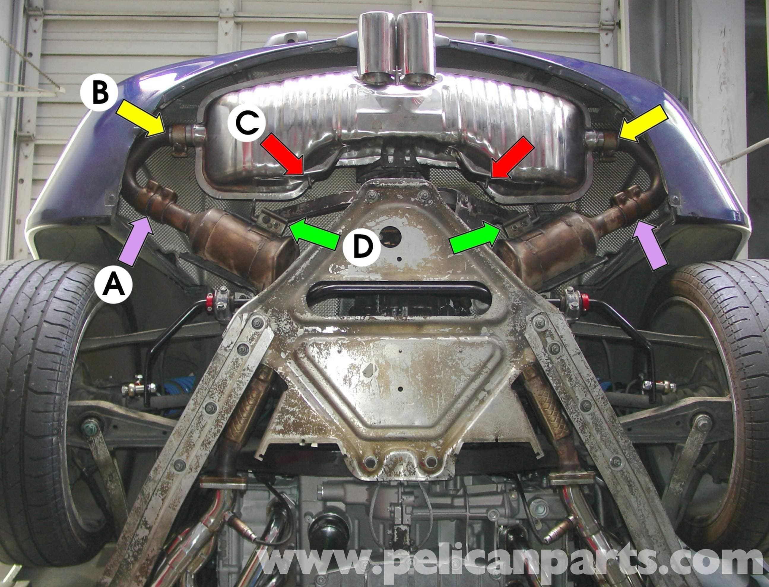 Porsche Boxster Muffler Replacement 986 987 1997 08