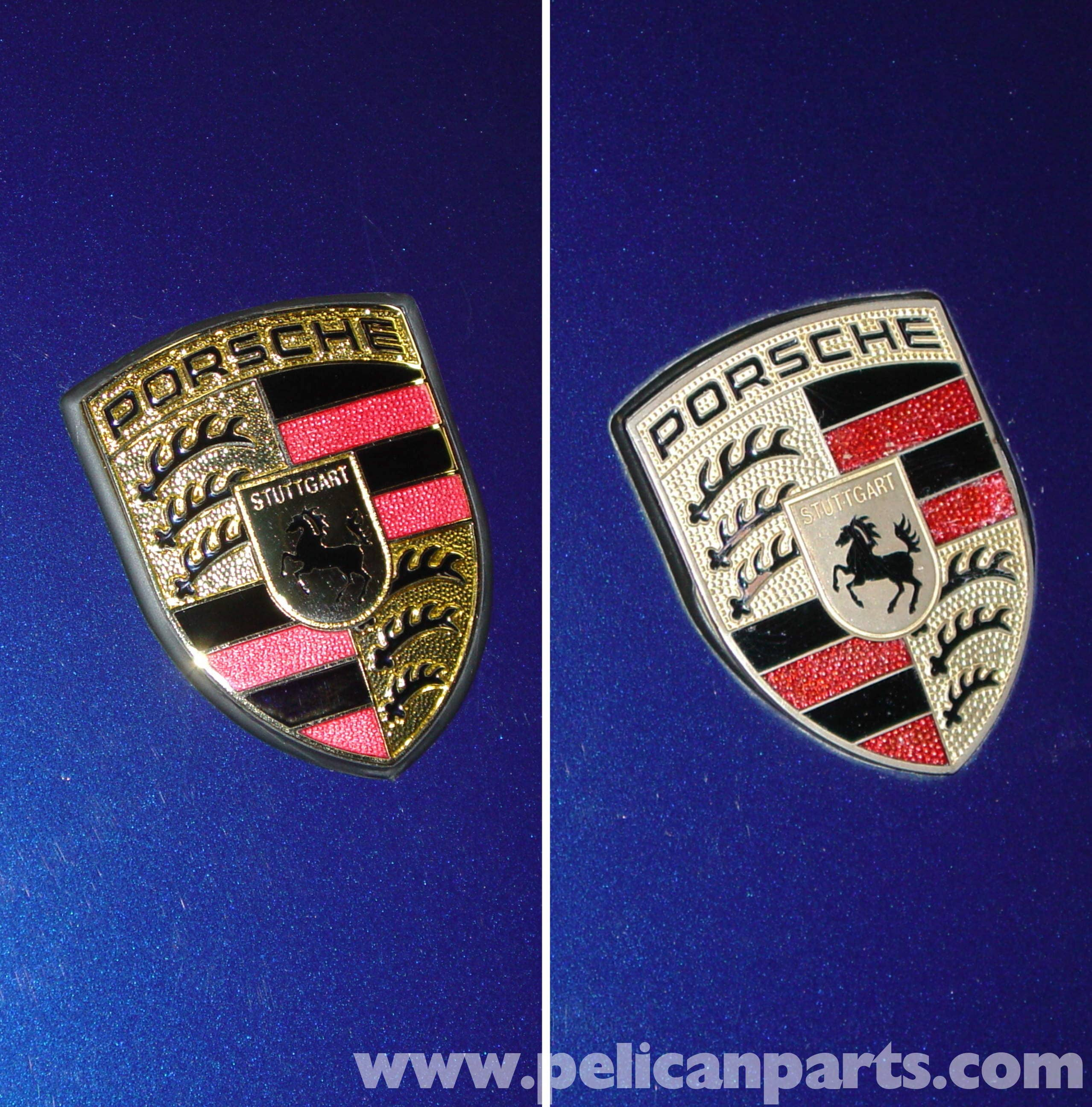 porsche boxster crests and emblems replacement 986 987 1997