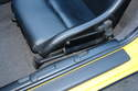 This photo shows a close-up shot of the GT3 seats mounted in the Boxster.