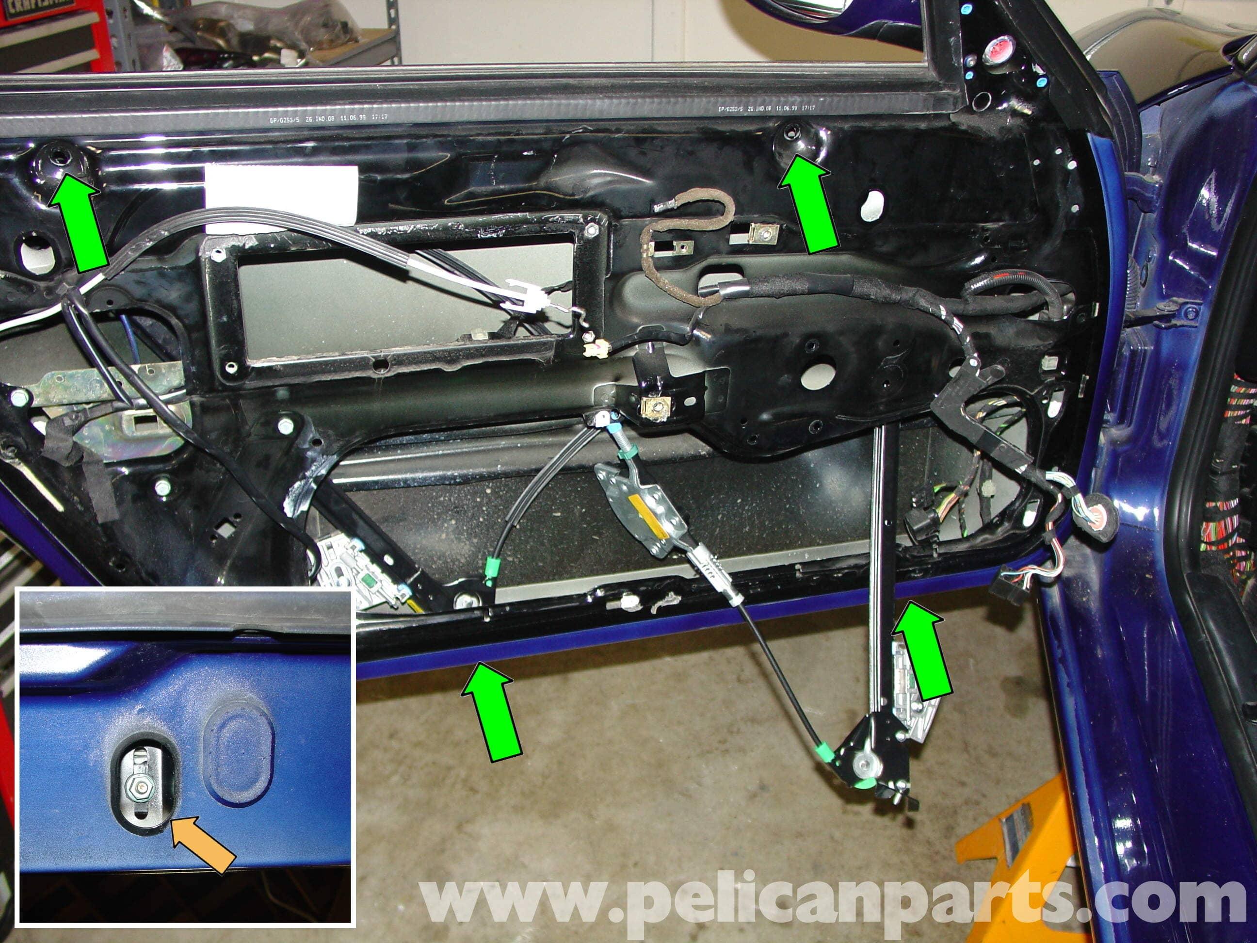 Outer Door Handle Lock Pin Plastic Porsche 986 Boxster 996