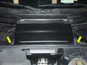 The battery is located in the front trunk compartment on the Boxster.