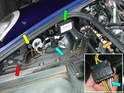 Install the control unit in the front trunk on the left side.