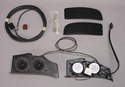Shown here are the components that comprise the Boxster rear speaker kit.