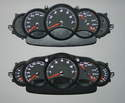 Shown there are the Boxster gauge cluster (top) and the 996 cluster (bottom) side-by-side.