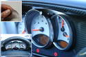 Chrome trim rings are a popular interior dress-up item for the Boxster gauges.