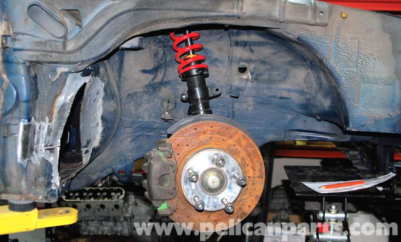 Swapping to E36 brakes gains much larger rotors and better calipers, but it's more difficult than simply bolting on all the parts from an E36 donor car