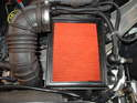 (R50 MINI Cooper) Shown here is the filter underneath the airbox cover.