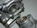 Shown here are the 'fingers' on both the end of the supercharger as well as the water pump.